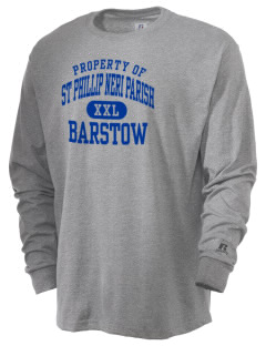 St Phillip Neri Parish Barstow  Russell Men's Long Sleeve T-Shirt