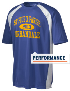 St Pius X Parish Urbandale Men's Dry Zone Colorblock T-Shirt