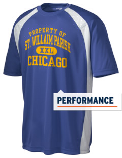 St. Willaim Parish Chicago Men's Dry Zone Colorblock T-Shirt