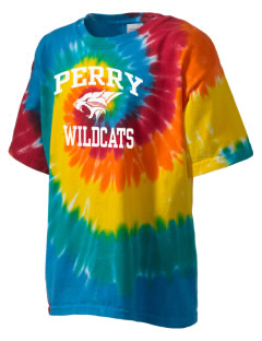 Perry Elementary School Wildcats Kid's Tie-Dye T-Shirt