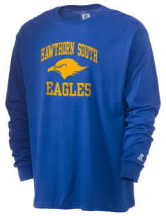 Hawthorn Elementary School South Eagles  Russell Men's Long Sleeve T-Shirt