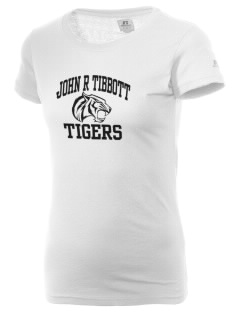 John R Tibbott School Tigers  Russell Women's Campus T-Shirt