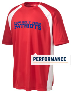 Justice Thurgood Marshall Middle School Patriots Men's Dry Zone Colorblock T-Shirt