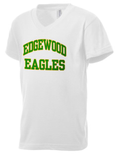 Edgewood Elementary School Eagles Kid's V-Neck Jersey T-Shirt