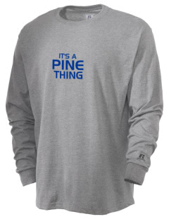 Pine Elementary School Panthers  Russell Men's Long Sleeve T-Shirt