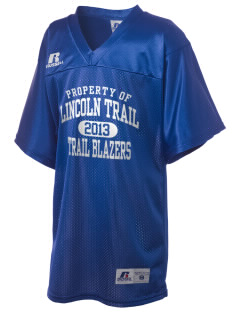 Lincoln Trail Elementary School Trail Blazers Russell Kid's Replica Football Jersey