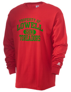 Lowell Elementary School Toreadors  Russell Men's Long Sleeve T-Shirt