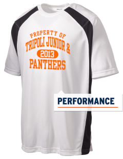 Tripoli Junior & Senior High School Panthers Men's Dry Zone Colorblock T-Shirt