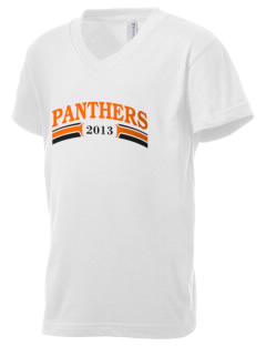 Tripoli Junior & Senior High School Panthers Kid's V-Neck Jersey T-Shirt