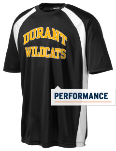 Durant High School Wildcats Men's Dry Zone Colorblock T-Shirt