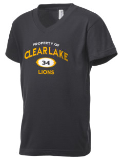 Clear Lake Junior High School Lions Kid's V-Neck Jersey T-Shirt