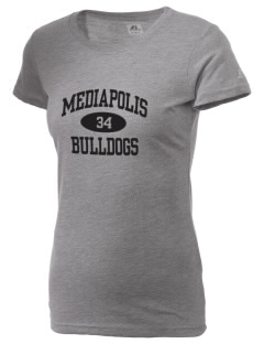Mediapolis Middle School Bulldogs  Russell Women's Campus T-Shirt