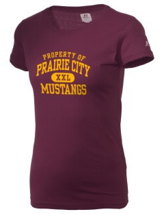 Prairie City Elementary School Mustangs  Russell Women's Campus T-Shirt