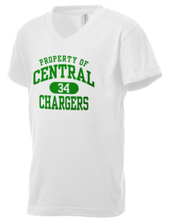 Central Middle School Chargers Kid's V-Neck Jersey T-Shirt