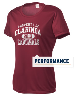 Clarinda Senior High School Cardinals Women's Competitor Performance T-Shirt