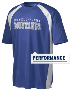 Newell-Fonda Middle School Mustangs Men's Dry Zone Colorblock T-Shirt