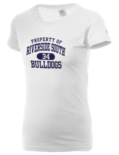 Riverside South Elementary School Bulldogs  Russell Women's Campus T-Shirt