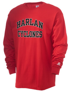 Harlan Community High School Cyclones  Russell Men's Long Sleeve T-Shirt