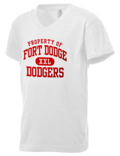 Fort Dodge High School Dodgers Kid's V-Neck Jersey T-Shirt