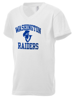 Washington Elementary School Raiders Kid's V-Neck Jersey T-Shirt