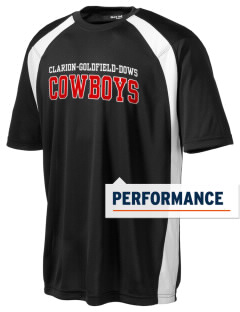 Clarion-Goldfield Elementary School Cowboys Men's Dry Zone Colorblock T-Shirt