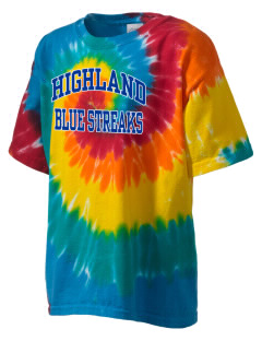 Highland High School Blue Streaks Kid's Tie-Dye T-Shirt