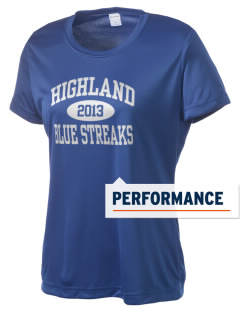Highland High School Blue Streaks Women's Competitor Performance T-Shirt