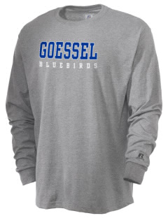 Goessel High School Bluebirds  Russell Men's Long Sleeve T-Shirt