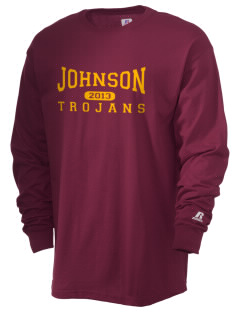 Johnson Elementary School Trojans  Russell Men's Long Sleeve T-Shirt