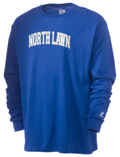 North Lawn Elementary School Blue Streaks  Russell Men's Long Sleeve T-Shirt