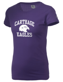 Carthage Elementary School Eagles  Russell Women's Campus T-Shirt