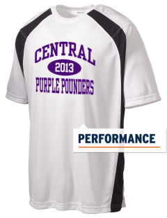 Central High School Purple Pounders Men's Dry Zone Colorblock T-Shirt