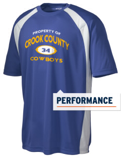 Crook County High School Cowboys Men's Dry Zone Colorblock T-Shirt