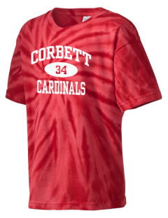 Corbett Middle School Cardinals Kid's Tie-Dye T-Shirt