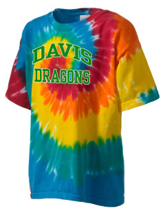 Davis Elementary School Dragons Kid's Tie-Dye T-Shirt