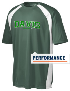 Davis Elementary School Dragons Men's Dry Zone Colorblock T-Shirt