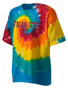 Falls City Elementary School Mountaineers Kid's Tie-Dye T-Shirt