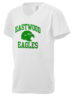 Eastwood Elementary School Eagles Kid's V-Neck Jersey T-Shirt