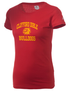 Clifford Dible Elementary School Bulldogs  Russell Women's Campus T-Shirt