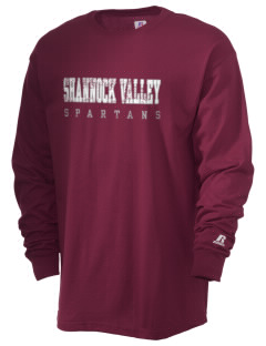Shannock Valley High Spartans  Russell Men's Long Sleeve T-Shirt