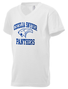 Cecelia Snyder Middle School Panthers Kid's V-Neck Jersey T-Shirt