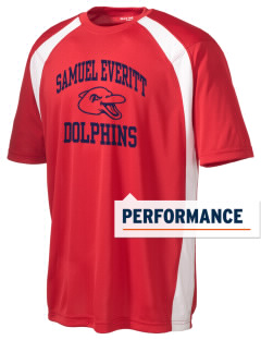 Samuel Everitt Elementary School Dolphins Men's Dry Zone Colorblock T-Shirt