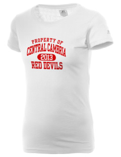 Central Cambria High School Red Devils  Russell Women's Campus T-Shirt