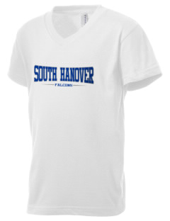 South Hanover Elementary School Falcons Kid's V-Neck Jersey T-Shirt
