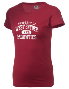 West Snyder High School Mounties  Russell Women's Campus T-Shirt