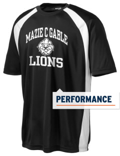 Mazie C Gable Elementary School Lions Men's Dry Zone Colorblock T-Shirt