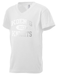 Koenig Elementary School Knights Kid's V-Neck Jersey T-Shirt