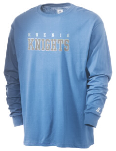 Koenig Elementary School Knights  Russell Men's Long Sleeve T-Shirt