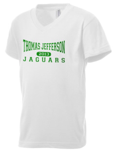 Thomas Jefferson Elementary School Jaguars Kid's V-Neck Jersey T-Shirt