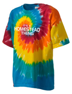 Homestead High School Highlanders Kid's Tie-Dye T-Shirt